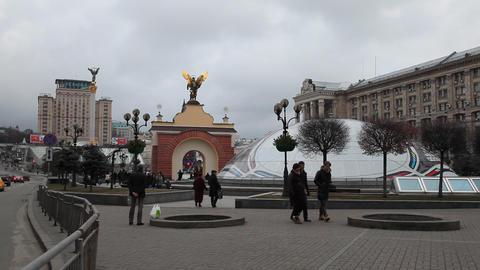 Maidany in Kiev Stock Video Footage