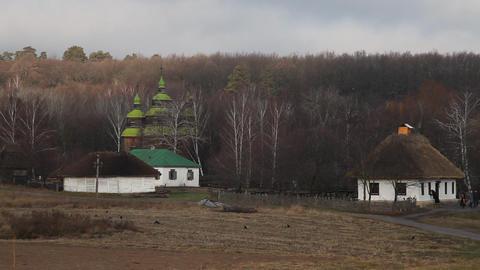 Pirogovo museum in Kiev Stock Video Footage