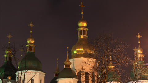 Saint Sophia Cathedral in Kiev timelapse Footage