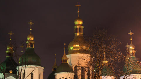 Saint Sophia Cathedral in Kiev timelapse Stock Video Footage