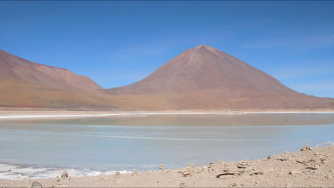 Laguna Verde time lapse Stock Video Footage