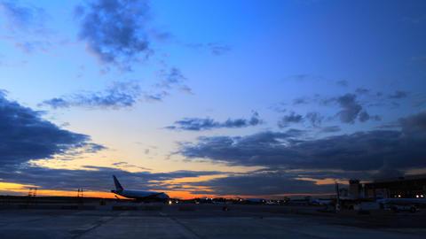 Airport runway timelapse Footage