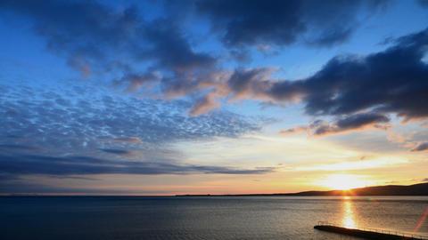 Sea sunset timelapse Stock Video Footage