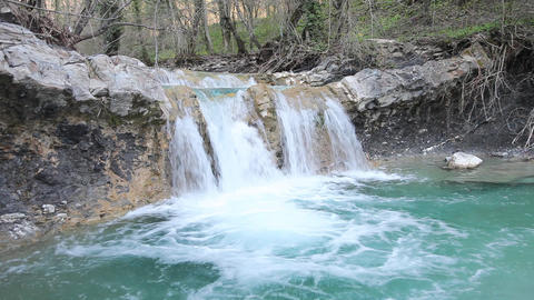 Loopable waterfall sequence Stock Video Footage