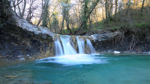 Waterfall timelapse Stock Video Footage