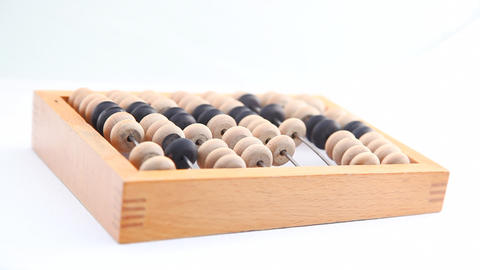 Turning wooden abacus HD Stock Video Footage