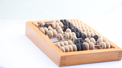 Turning wooden abacus HD Footage
