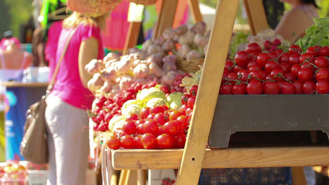 Food Stand stock footage