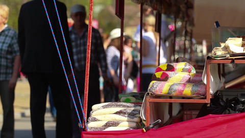 Food stand Stock Video Footage