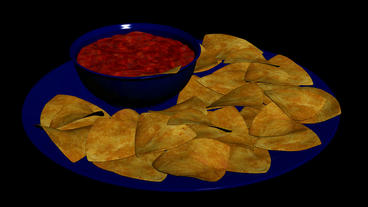 Delicious Potato chips.food,unhealthy,pile,snack,fried,crunchy,tasty,crispy,calo Animation