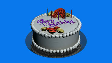 Delicious birthday cake.food,party,celebration Stock Video Footage