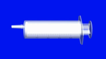 Transparent syringe,medical,medicine,injection Animation