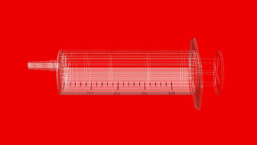 Transparent syringe,medical,medicine,injection Stock Video Footage
