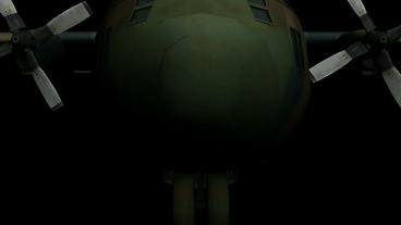 C130 transport aircraft flying,Cabin Animation