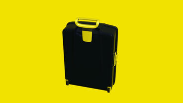 Model with handle of travel suitcase Animation