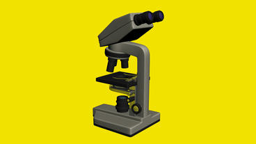 Microscope in aboratory,research equipment Animation