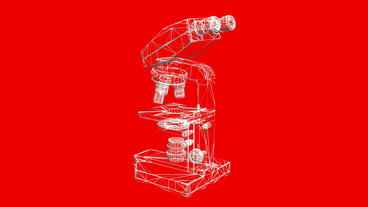 Microscope in aboratory,research equipment,Grid,mesh,sketch,structure Animation