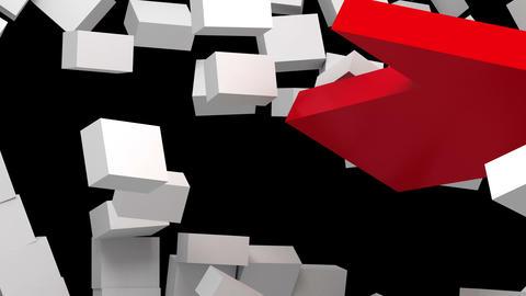 red arrow breaking wall Stock Video Footage