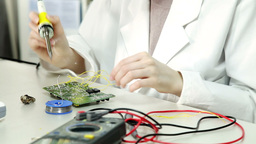 Laboratory of electronics Stock Video Footage