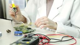 Laboratory of electronics Stock Video Footage