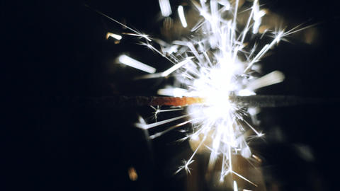 lightening Christmas sparkler Stock Video Footage