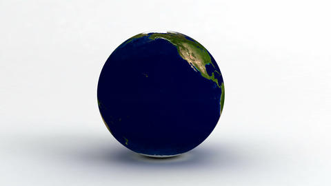 Earth on White Stock Video Footage