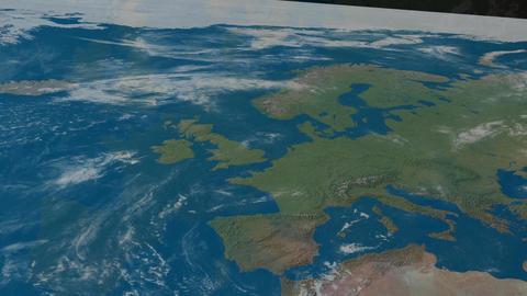 Animation Europe Stock Video Footage