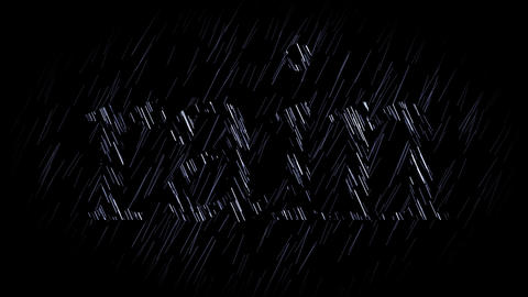 rain, seamless loop Stock Video Footage