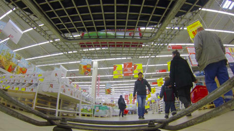 Shopping basket, supermarket Footage
