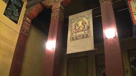 Buddhist, Temple, Interior Stock Video Footage