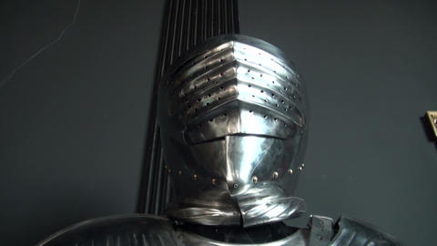 The knight's armor Stock Video Footage