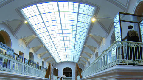 The hall of the Ethnography Museum in St. Petersburg Stock Video Footage