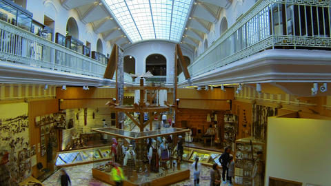 The hall of the Ethnography Museum in St. Petersburg Footage