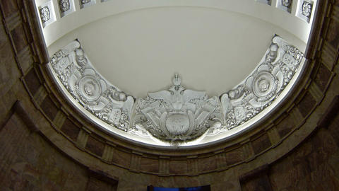 The old ceiling with stucco Stock Video Footage