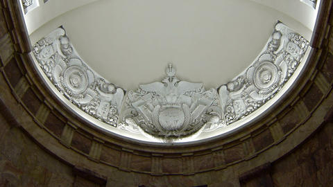 The Old Ceiling With Stucco stock footage