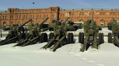Artillery gun Stock Video Footage