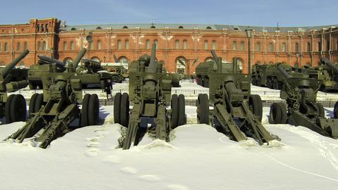 Artillery gun Footage