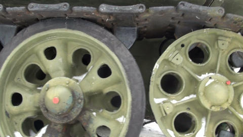 Skating rinks and caterpillar tank Stock Video Footage