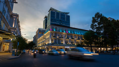 4K - TIMELAPSE - HOTEL CONTINENTAL IN SAIGON Footage