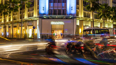 1080 - SAIGON REX HOTEL - TIMELAPS Stock Video Footage