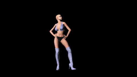 Sexy Showgirl 07 (+ Alpha) Animation