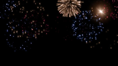 fireworks scene 001 Stock Video Footage