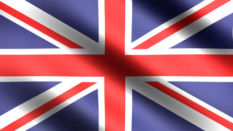 4K Flag Animation of Great Britain England Animation