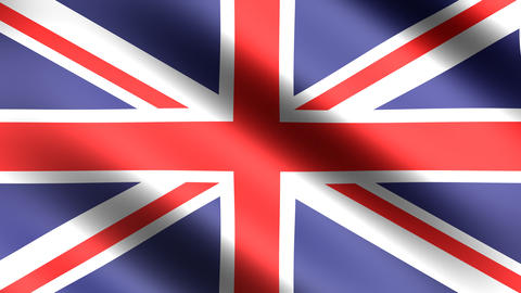 4K Flag Animation of Great Britain England Stock Video Footage