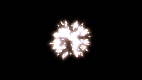 fireworks white 001 Stock Video Footage