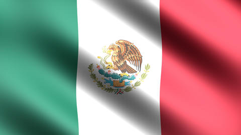 4K Flag of Mexico Stock Video Footage