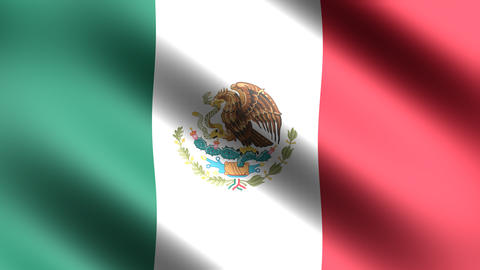 4K Flag of Mexico Animation