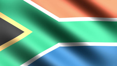 4K Flag Animation South Africa Animation