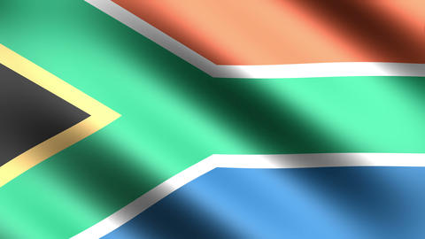 4K Flag Animation South Africa Stock Video Footage