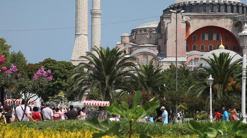 Aya Sofia exterior Stock Video Footage